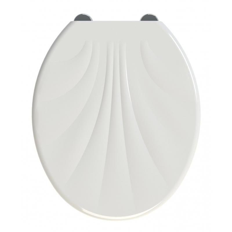 Abattant de toilette shell en thermodur blanc allibert - Abattant de toilette ...