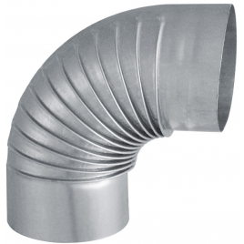 Coude 90° aluminié-galvanisé EUROTIP