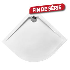 Receveur Slim ALLIBERT - 1/4 Rond - 90x4x90cm