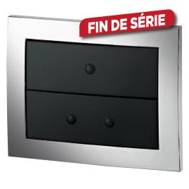 Plaque de commande Imageo wc suspendu - WIRQUIN - Chrome noir