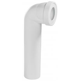 Pipe wc coudée mâle - Sans piquage - Longue
