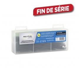 Vis pour plaque de plâtre 4,2 x 65 mm 75 pièces avec 1 embout RECTICEL