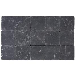 Pavé tambouriné 15 x 15 x 5 cm - Noir