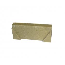 Plaque d'extrémité pour caniveaux