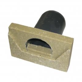 Plaque en béton avec extrémité pour caniveaux SUPER MINI