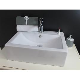 Vasque céramique rectangulaire blanc CUBIC