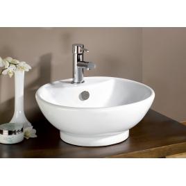 Vasque céramique ronde blanc PORTOFINO