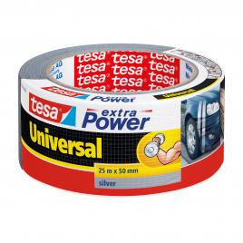 Ruban adhésif Extra Power Universal gris 25 m x 50 mm TESA