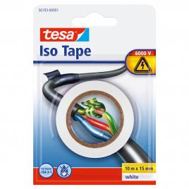 Isolation électrique TESA - Blanc - 10 m x 15 mm