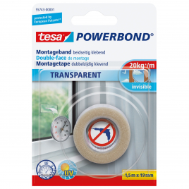 Ruban de montage transparent POWERBOND TESA