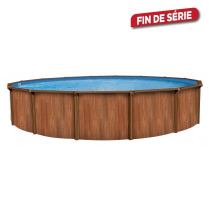 piscine hors sol ronde en acier imitation bois atlantic pools. Black Bedroom Furniture Sets. Home Design Ideas
