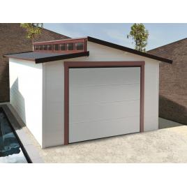 Garage Torino 28 mm 5,72 x 3,65 m avec porte de garage sectionnelle