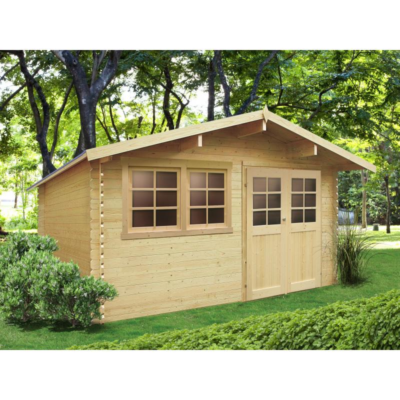 abri de jardin niort 28 mm 4 18 x 2 98 m solid. Black Bedroom Furniture Sets. Home Design Ideas