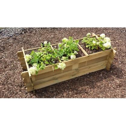 carr potager pour plantes avec geotextile solid