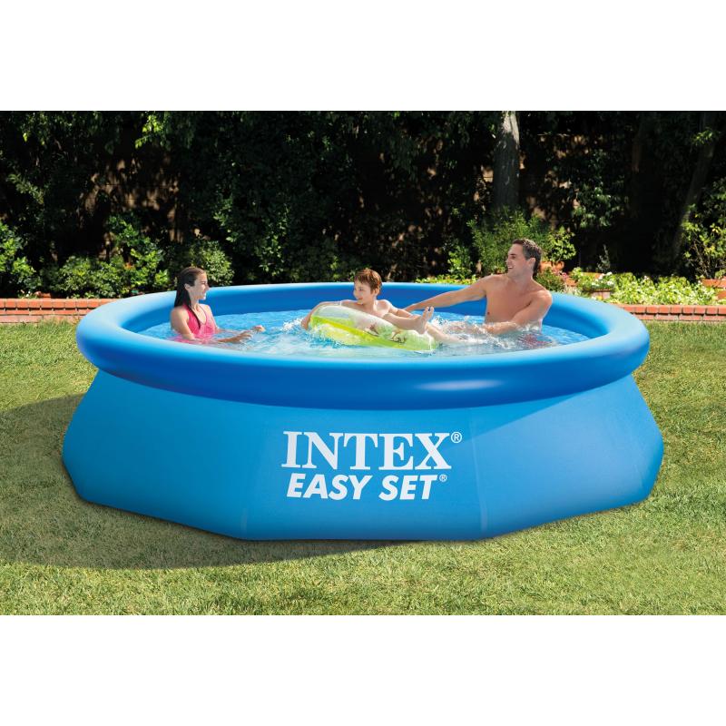 piscine easy set avec accessoire de filtration intex. Black Bedroom Furniture Sets. Home Design Ideas