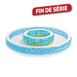 Piscine gonflable double fontaine 279 x 36 cm INTEX
