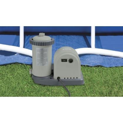 pompe 5678 l h avec filtre pour piscine intex. Black Bedroom Furniture Sets. Home Design Ideas