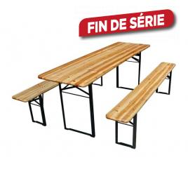 Ensemble Brasseur : 1 table et 2 bancs
