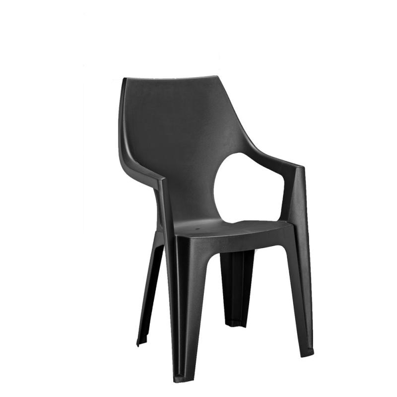 fauteuil de jardin dante avec dossier haut allibert. Black Bedroom Furniture Sets. Home Design Ideas