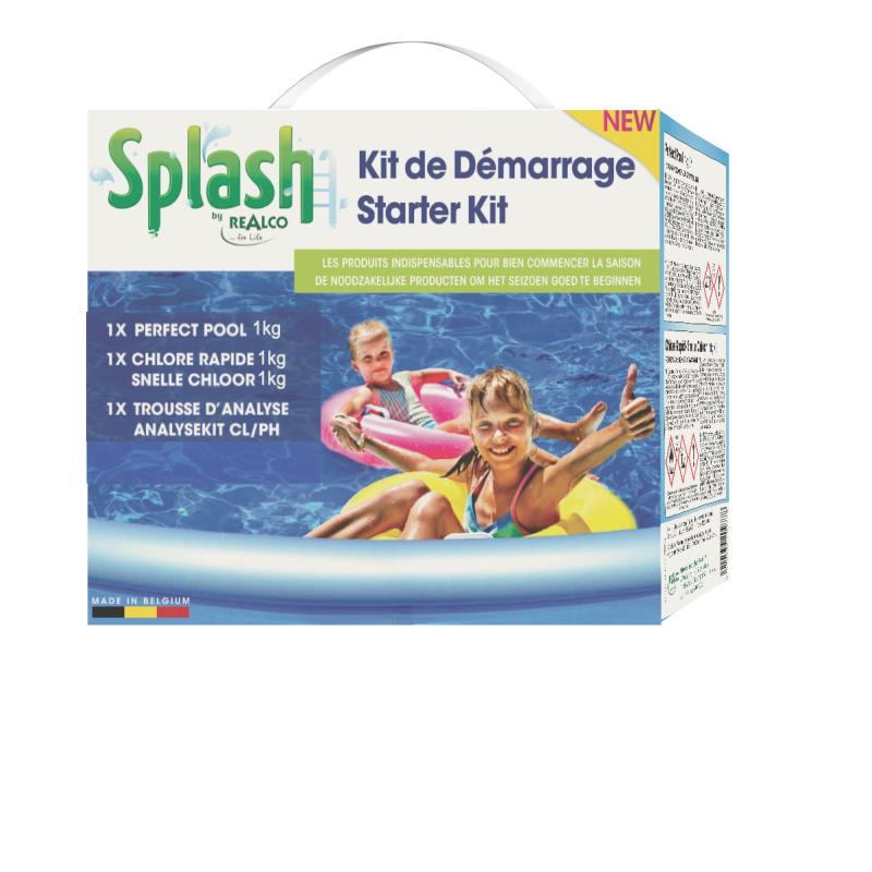 kit de d marrage pour nettoyage de piscine splash. Black Bedroom Furniture Sets. Home Design Ideas