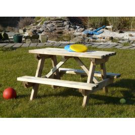 Table pic-nic pour enfant - 90 x 90 x 57 cm - Autoclave