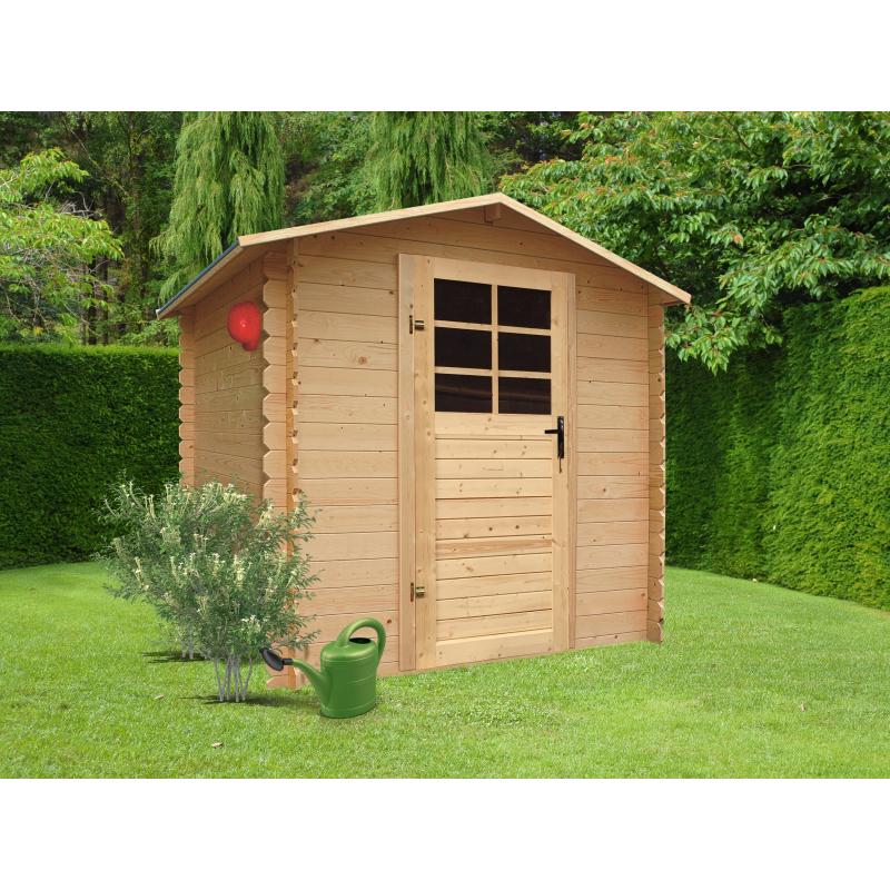 abri de jardin traditionnel 19 mm 1 98 x 1 98 m solid. Black Bedroom Furniture Sets. Home Design Ideas