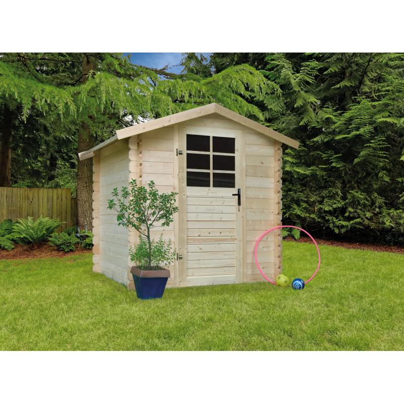 abri de jardin traditionnel 28 mm 1 98 x 1 98 m solid. Black Bedroom Furniture Sets. Home Design Ideas