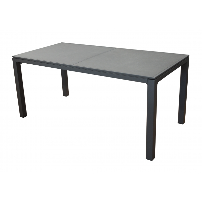 Table de jardin romane 166 x 84 cm - Table de jardin extensible mr bricolage ...
