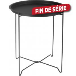Table de jardin en métal noir Ø 48 cm