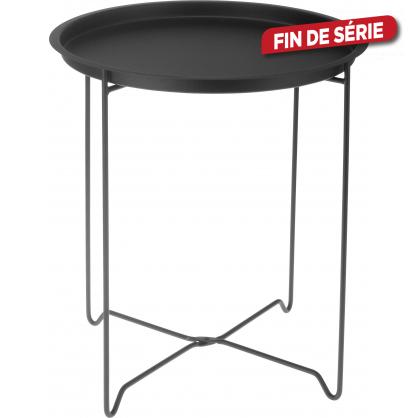 Table de jardin en m tal noir 48 cm - Table de jardin metal mr bricolage ...