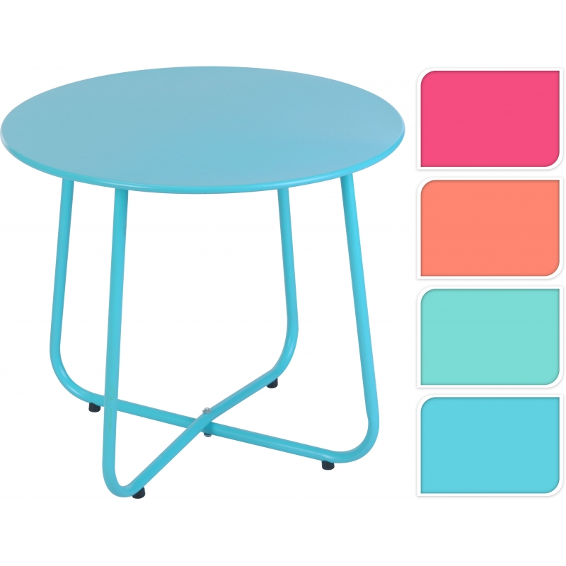 Table de jardin en métal Ø 50 cm - Mr.Bricolage
