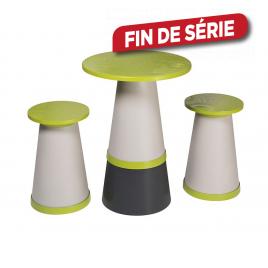 Set Totem avec 1 table et 2 tabourets GROSFILLEX