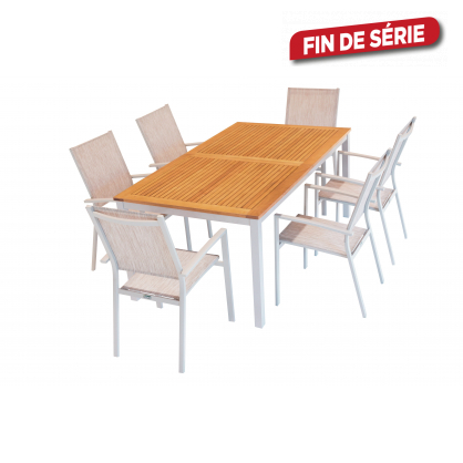 ensemble de jardin ibiris ii 1 table et 6 fauteuils - Ensemble De Jardin