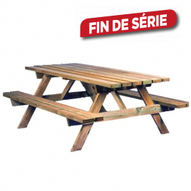 Table de jardin pic-nic 180 x 140 x 80 cm CARTRI