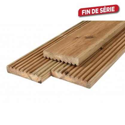 Plancher à rainure pour terrasse 1,9 x 14,5 x 240 cm CARTRI
