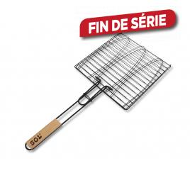 Grille de cuisson pour poisson pour barbecue