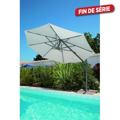 parasol inclinable d port cru avec manivelle 350 cm. Black Bedroom Furniture Sets. Home Design Ideas