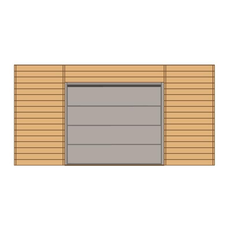 Paroi frontale avec porte de garage sectionnelle pour carport for Garage en bois avec porte sectionnelle