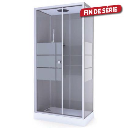 cabine de douche grey river 80 x 110 aurlane. Black Bedroom Furniture Sets. Home Design Ideas