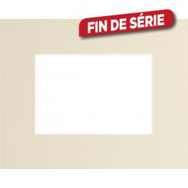 Passe-partout 18 x 24 cm (ouverture intérieure 10 x 15 cm) - Blanc