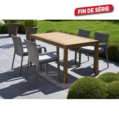 ensemble de jardin redon 160 1 table et 4 fauteuils. Black Bedroom Furniture Sets. Home Design Ideas