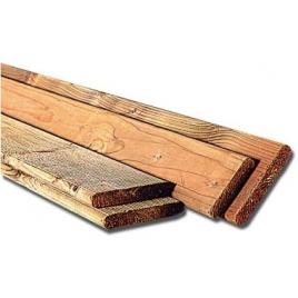 Planche pour terrasse en relief fin imprégné 1,9 x 9,5 x 240 cm
