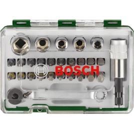 Set promoline de 27 accessoires avec clé à cliquet BOSCH
