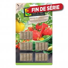 Bâtonnet d'engrais pour tomate et légume Bio 20 pièces COMPO