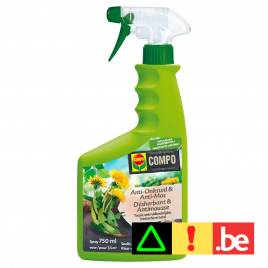 Herbicide total et anti-mousse naturel en spray 750 ml COMPO