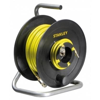 Enrouleur r tractable pour tuyau d 39 air comprim 20 m stanley - Enrouleur air comprime ...