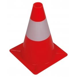Cône de signalisation rouge et blanc 30 cm PEREL