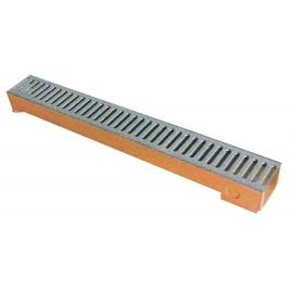 Caniveau avec grille galvanisée - 100 x 13 x 5 cm