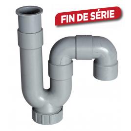 Siphon de lavabo PVC à sortie horizontale ou verticale WIRQUIN