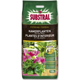 Terreau pour plantes d'intérieur et palmiers 10 L SUBSTRAL